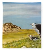 Sandhills Spring Fleece Blanket
