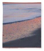 Sandpiper At Sunset Print Fleece Blanket