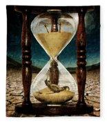Sands Of Time ... Memento Mori  Fleece Blanket