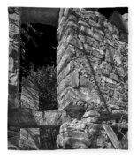 Sandstone Arch Jerome Black And White Fleece Blanket