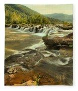 Sandstone Falls Landscape Fleece Blanket