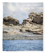 Sandstone Island Sculptures Fleece Blanket