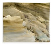 Sandstone Sediment Smoothed And Rounded By Water Fleece Blanket