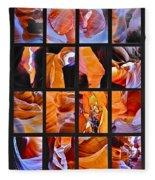 Sandstone Sunsongs Shuffle Assemblage Fleece Blanket