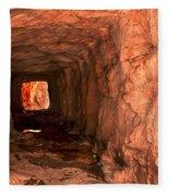Sandstone Tunnel Fleece Blanket