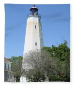 Sandy Hook Lighthouse II Fleece Blanket