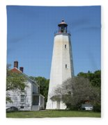 Sandy Hook Lighthouse IIi - N  J Fleece Blanket