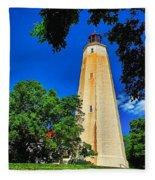 The Sandy Hook Lighthouse Fleece Blanket