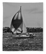 Sandy Hook Sailing II Fleece Blanket