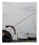 Sangam Boats Fleece Blanket