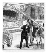 Sanger's Circus, 1884 Fleece Blanket