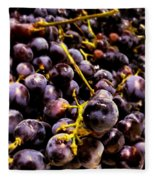 Sangiovese Grapes Fleece Blanket