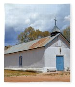 Sangre De Cristo Chapel In Cuartelez In New Mexico Fleece Blanket