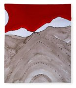 Sangre De Cristo Peaks Original Painting Fleece Blanket
