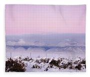 Sangre De Cristo Range With Clouds Fleece Blanket