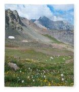 Sangre De Cristos Meadow And Mountains Fleece Blanket