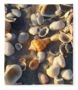 Sanibel Island Shells 2 Fleece Blanket