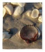 Sanibel Island Shells 5 Fleece Blanket