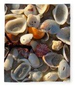 Sanibel Island Shells 6 Fleece Blanket