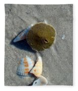 Sanibel Sand Dollar 1 Fleece Blanket