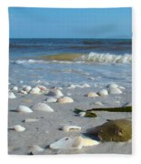 Sanibel Sand Dollar 2 Fleece Blanket