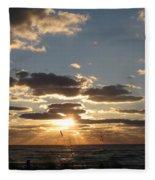 Sanibel Sunset Fleece Blanket