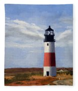 Sankaty Head Lighthouse Nantucket Massachusetts Fleece Blanket