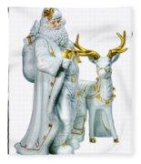 Santa And Reindeer Fleece Blanket