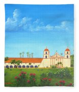 Santa Barbara Mission Fleece Blanket