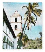 Santa Barbara Palms Fleece Blanket