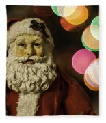 Santa Bokeh 2 Fleece Blanket