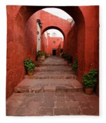 Santa Catalina Monastery In Arequipa Peru Fleece Blanket
