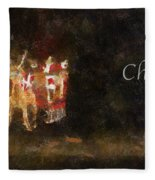 Santa Christmas Cheer Photo Art Fleece Blanket