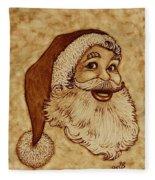 Santa Claus Joyful Face Fleece Blanket