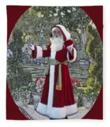 Santa Claus Walt Disney World Oval Fleece Blanket