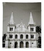 Santa Cruz Basilica In Cochin Fleece Blanket