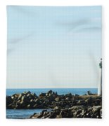 Santa Cruz California Lighthouse Fleece Blanket