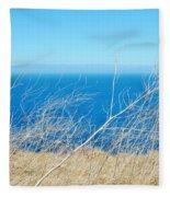 Santa Cruz Island Sea Of Grass Fleece Blanket