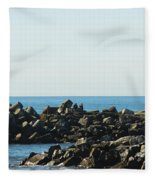 Santa Cruz Lighthouse Wide Fleece Blanket