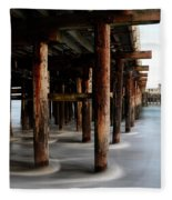 Santa Cruz Pier California Fleece Blanket