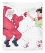 Santa Dances Fleece Blanket