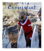 Santa Dog-2 Fleece Blanket