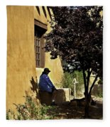 Santa Fe Afternoon - New Mexico Fleece Blanket