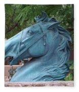 Santa Fe Big Blue Horse Fleece Blanket