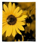 Santa Fe Sunflower 1 Fleece Blanket