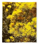 Santa Fe Yellow Fleece Blanket
