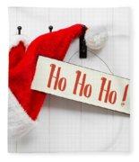 Santa Hat And Sign Fleece Blanket