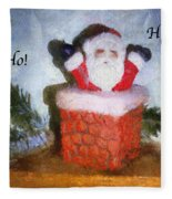 Santa Ho Ho Ho Photo Art Fleece Blanket