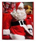 Santa Is Ready Fleece Blanket