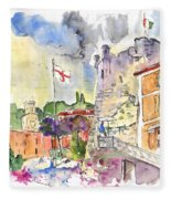 Santa Margherita In Italy 07 Fleece Blanket